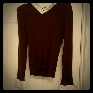 Brown sweater top